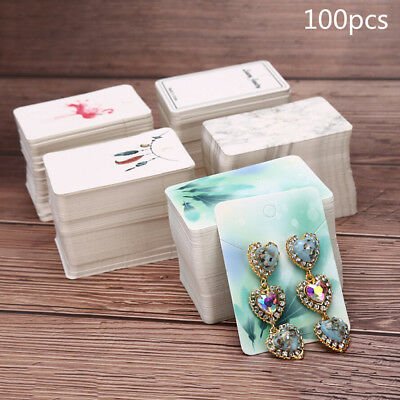 100pcs/lot Paper Necklace&Earrings Display Packing Cards Jewelry Ornament DIY ^S