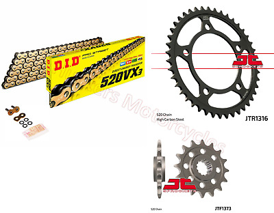 Honda NC750 S DCT DID Gold X-Ring Chain & JT Sprockets Kit Set (2014 to 2016)