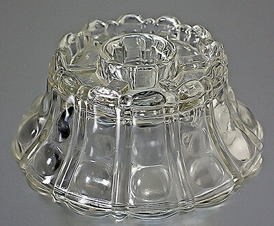 Vintage Pressed Glass Clear Candle Holder