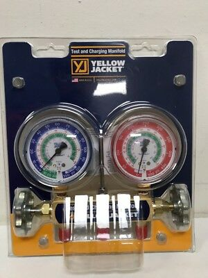Yellow Jacket Gauge Set 2 Valve Manifold R12, R22, R502 Brand New