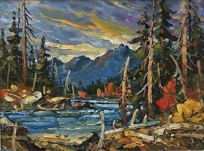 ROD CHARLESWORTH Original Signed Landscape Oil Painting Canada LISTED