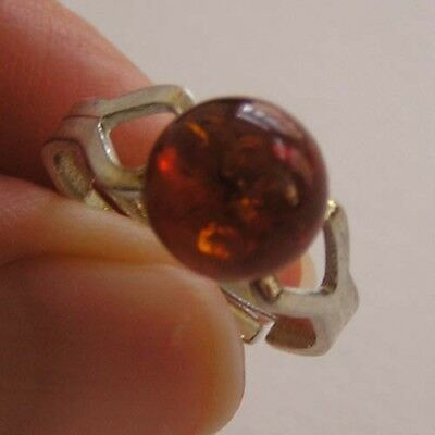BEAUTIFUL RING - GENUINE AMBER from BALTIC COAST