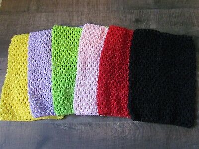 """8"""", 10"""" Crochet Tube Top Tutu Elastic Girls baby Skirts costumes lined unlined"""