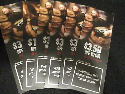 LOT OF 3 COPENHAGEN Tobacco Coupons-  Exp: 12/29/18  {SAVE $8.50}