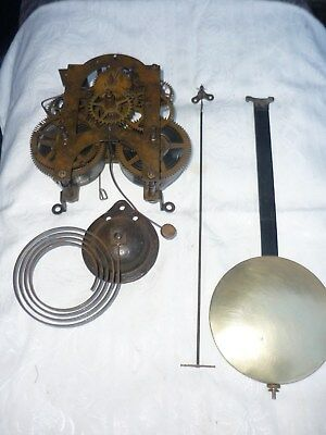 Antique American clock movement for Ansonia 'Regulator A' calendar wall clock