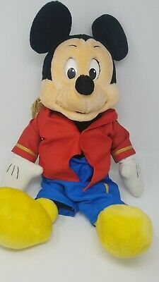 WOW Rare vintage Plush Talking Mickey Mouse Show Band Leader Doll (1986)