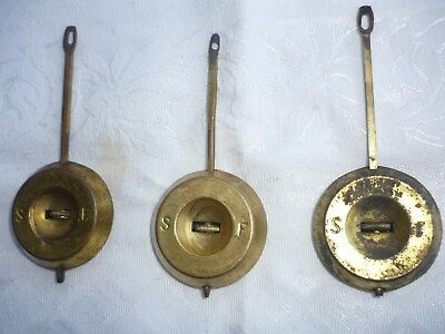 Three antique American Ansonia mantel clock pendulums