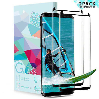 2x 3D Panzerfolie für Samsung Galaxy S8 Schutzglas Full Screen Display Hart Glas