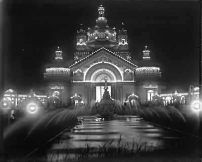 Night View: 1901 PAN-AMERICAN EXPOSITION - BUFFALO - HORTICULTURE BLDG Negative