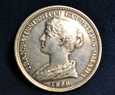 1898 HK-281 Silver Trans Mississippi Expo. SC Dollar, R5, AU Beauty!!