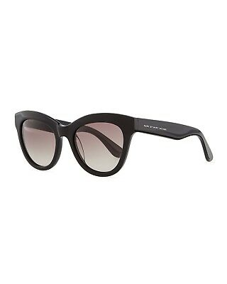 e601f1676aa Marc By Marc Jacobs Designer Black Cat Eye Sunglasses With Gray Gradient UV  Lens