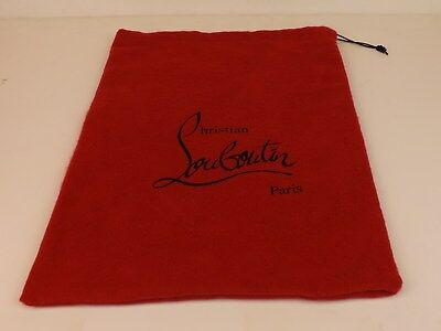 """NEW Christian Louboutin Red Dust Bag for shoes or clutch purse 9.5 x 15"""""""