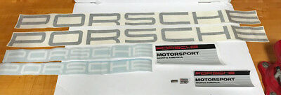 Porsche  Stickers With Set Of  Gt3 Cup Wing And Pins New .