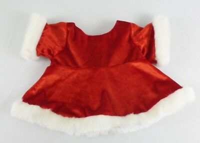 Build-A-Bear Mrs Claus Christmas Holiday Dress Red & White