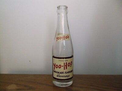 1955 - 65 Yoo-Hoo Chocolate Flavored Beverage 8 oz Bottle The Drink of Champions