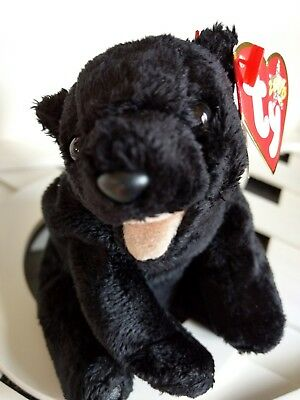 "TY Beanie Baby ~ CINDERS 5.5"" Black Bear ~ with Tags Retired with PE Pellets"