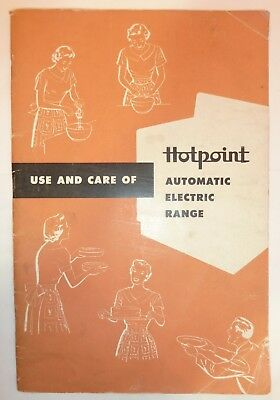 Vtg Hotpoint Automatic Electric Range Use & Care Booklet for 7 Different Models