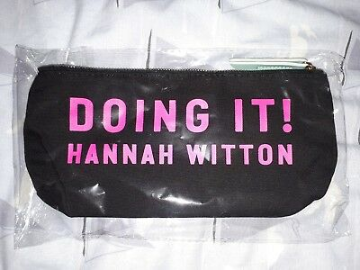 Hannah Witton New Doing It book, Let's talk about sex make up bag / YouTube