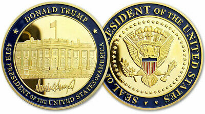 Trump Coin US President (45th) Donald J. Trump White House  Challenge Coin