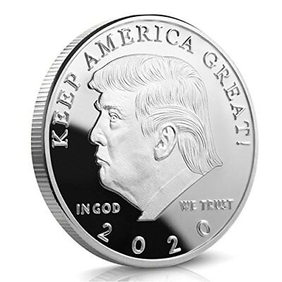 USA President Donald Trump 2020 KEEP AMERICA GREAT Silver Challenge Coin 40 MM