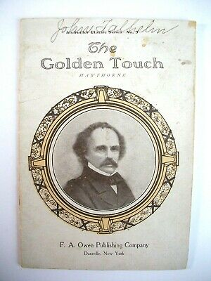 Antique 1900's Nathaniel Hawthorne The Golden Touch book rare Midas Story