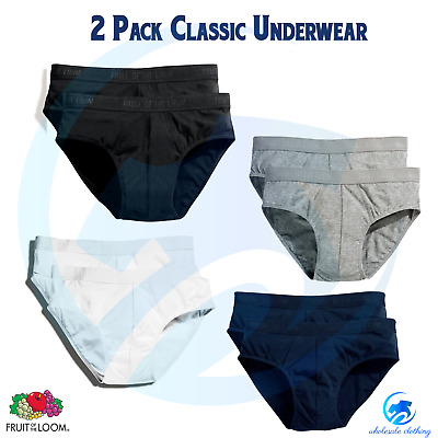 13518ac58634 FRUIT OF THE LOOM New Men's Classic Sport 2 Pack Underwear Athlete Cotton  Brief
