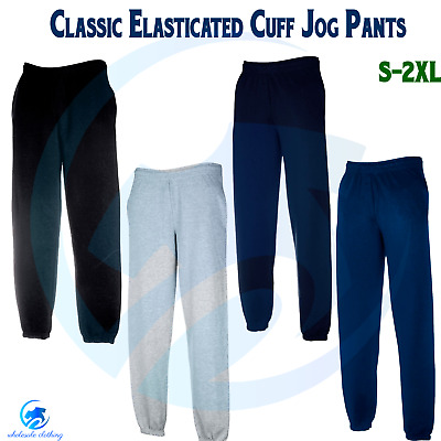 FRUIT OF THE LOOM 80/20 Elasticated Pants Casual Jog Bottom Classic Sweat Pants