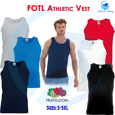 FRUIT OF THE LOOM Men's Classic Fit Cotton Tank Top Gym Sleeveless Tee Shirt Top