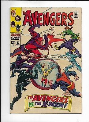 The Avengers #53 ( Marvel June,1968 ) Vs. X - Men VG/FN