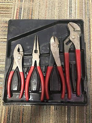 Lot of 4 MAC TOOLS / M420G SLIP JAW CHANNEL LOCK PLIERS/ M526G/ M317G/ M447G