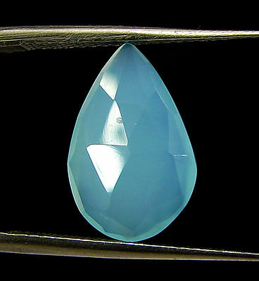 3.05 Ct Natural Blue Chalcedony Loose Faceted Gemstone Beautiful Stone - 10806
