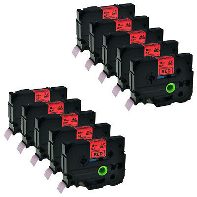 10PK Black on Red TZ TZe441 Tape For Brother P-touch PT-1880W 18mm Label Maker