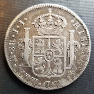 1818-JJ Mexico 8 Reales - KM#111 - Large Spanish Colony Silver Coin