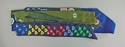 Huge lot of 9 SDA Adventists Pathfinders Sashes with Honor & Camporee Patches