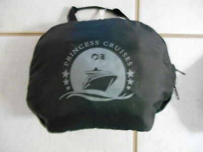 Princess Cruises Black Nylon Collapsible Back Pack-used 2x