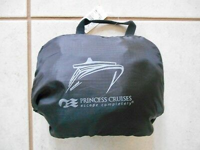 NEW with Tags - Princess Cruises Black Nylon Collapsible Back Pack