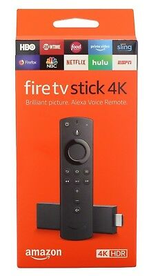 Fire TV Stick 4K with All-New Alexa Voice Remote, HD Media Player (2018 Version)