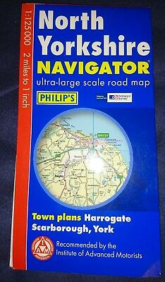 Philips North Yorkhire Navigator Folded Map Pre Owned In Good Condition
