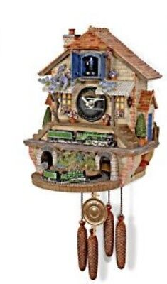 Cuckoo Clock Flying Scotsman Moving Train Memories Of Steam Bradford Editions