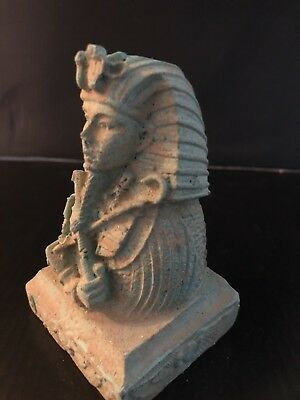 Rare Large Ancient Egyptian Faience Ramses II  Bust (1279 - 1213 Bce )