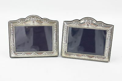 2 x 1993 Hallmarked Sheffield SOLID SILVER Photograph Frames (393g)