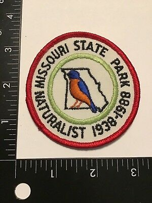 Vintage MISSOURI State Park NATURALIST Patch Parks MO 50 Years 1938-88 Officer