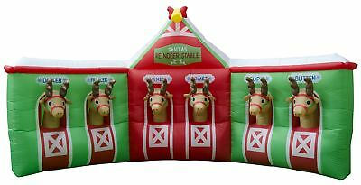 New Christmas Christmas Inflatable Reindeer Stable By OZSALE