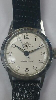 Solar Vintage Watch Swiss Made......NO RESERVE