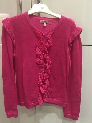Girls Pink Juicy Couture Cardigan Age 8 Excellent Condition
