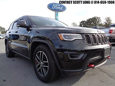 2018 Jeep Grand Cherokee 2018 Grand Cherokee Trailhawk V8 4WD Black 2018 Jeep Grand Cherokee Trailhawk 4x4 5.7L V8 Nav Heated Cooled Leather Black