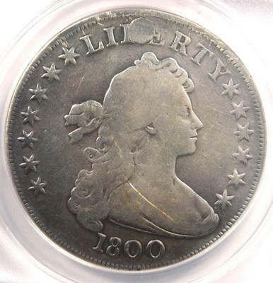 1800 Draped Bust Silver Dollar $1 Coin - Certified ANACS VG8 Details - Rare!