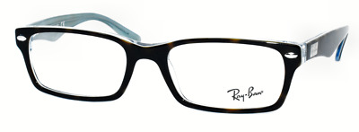 124b0285d0 New Authentic Ray Ban Eyeglasses Rb5206 5023 Havana On Transp Blue 52-18-140