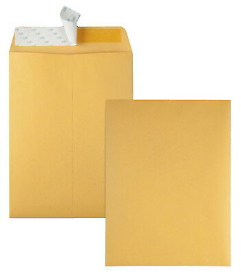 Quality Park Redi-Kraft Envelopes, 28 lbs, 9 x 12 inches, Kraft Brown, Box of