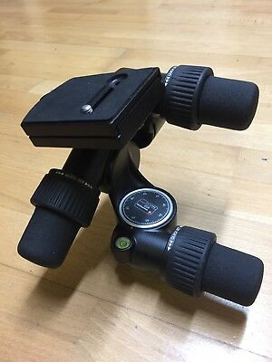 Manfrotto 405 Geared Tripod Head - 3 Way Pan And Tilt